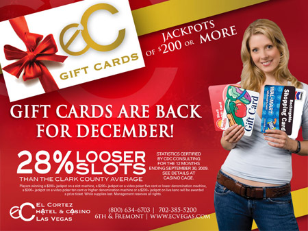 December Gift Cards at El Cortez